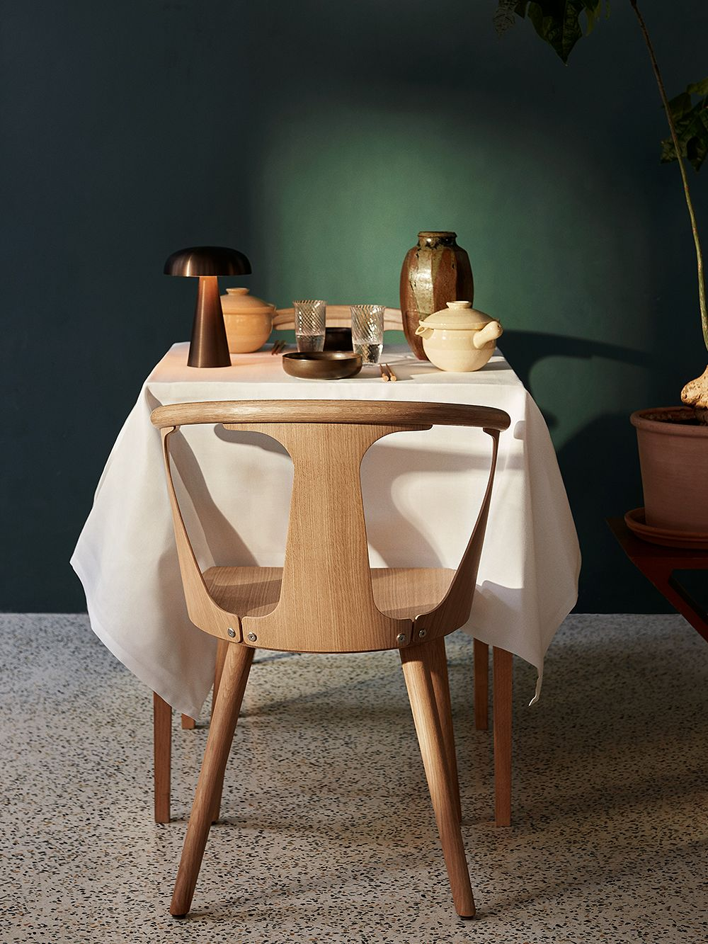 &Tradition In Between SK1 chair, white oiled oak