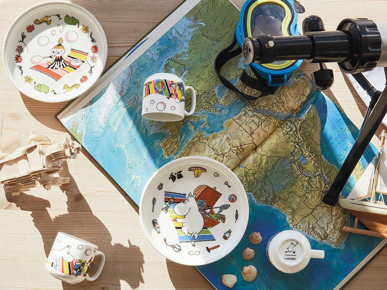 Arabia Moomin children's tableware set, Little My