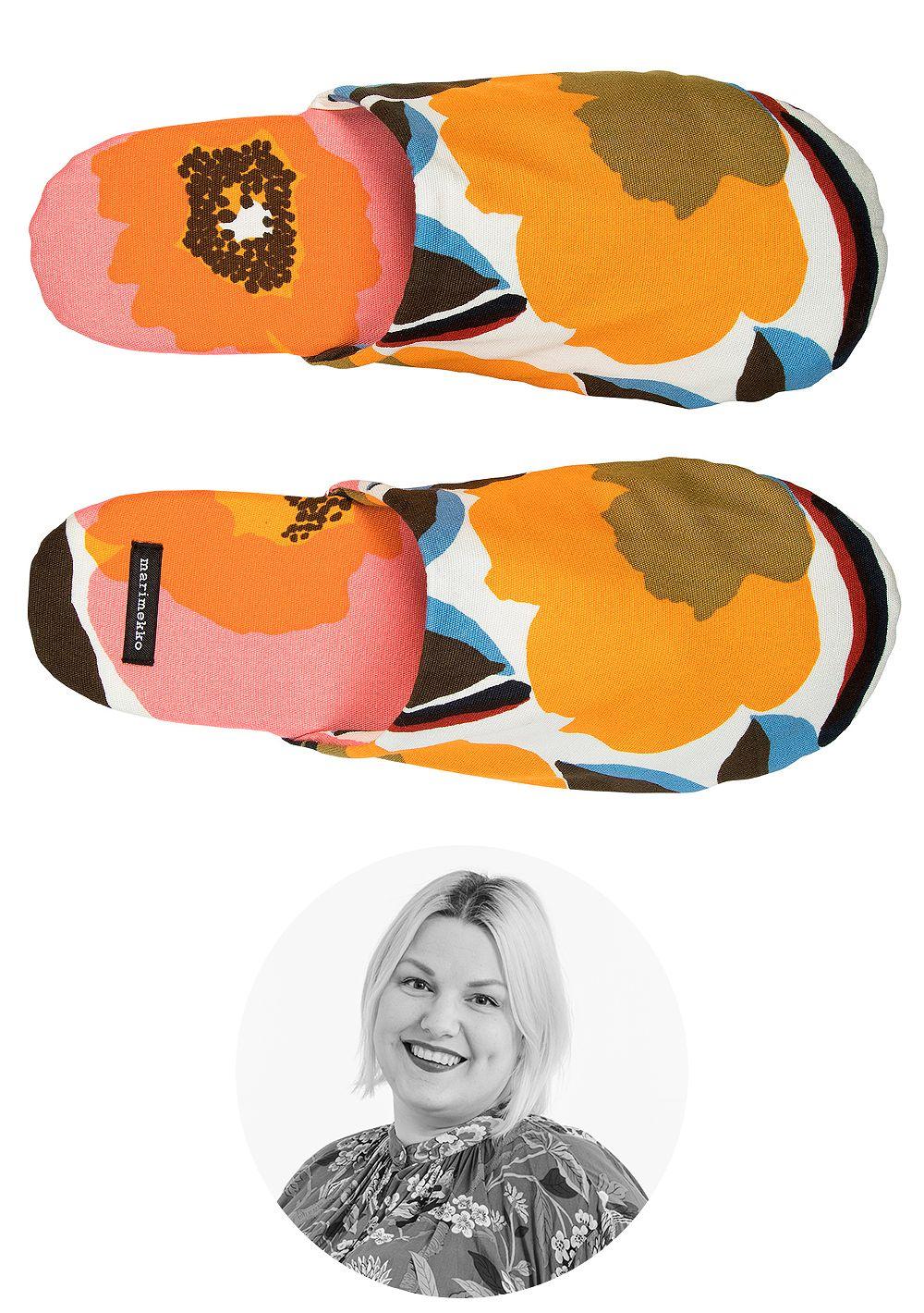 Marimekko's Rosarium slippers.
