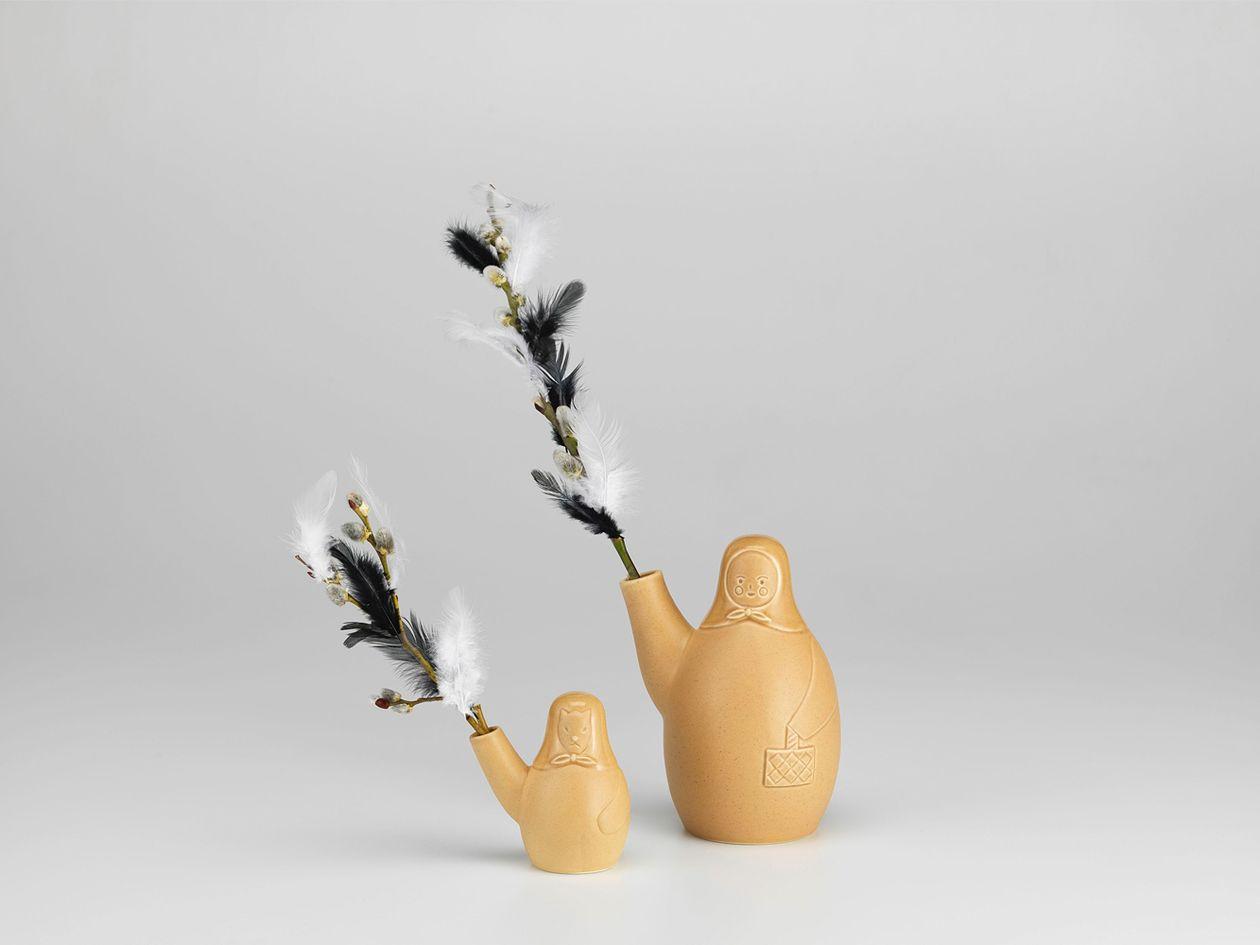 Artek's Easter witch and Easter dog vases.