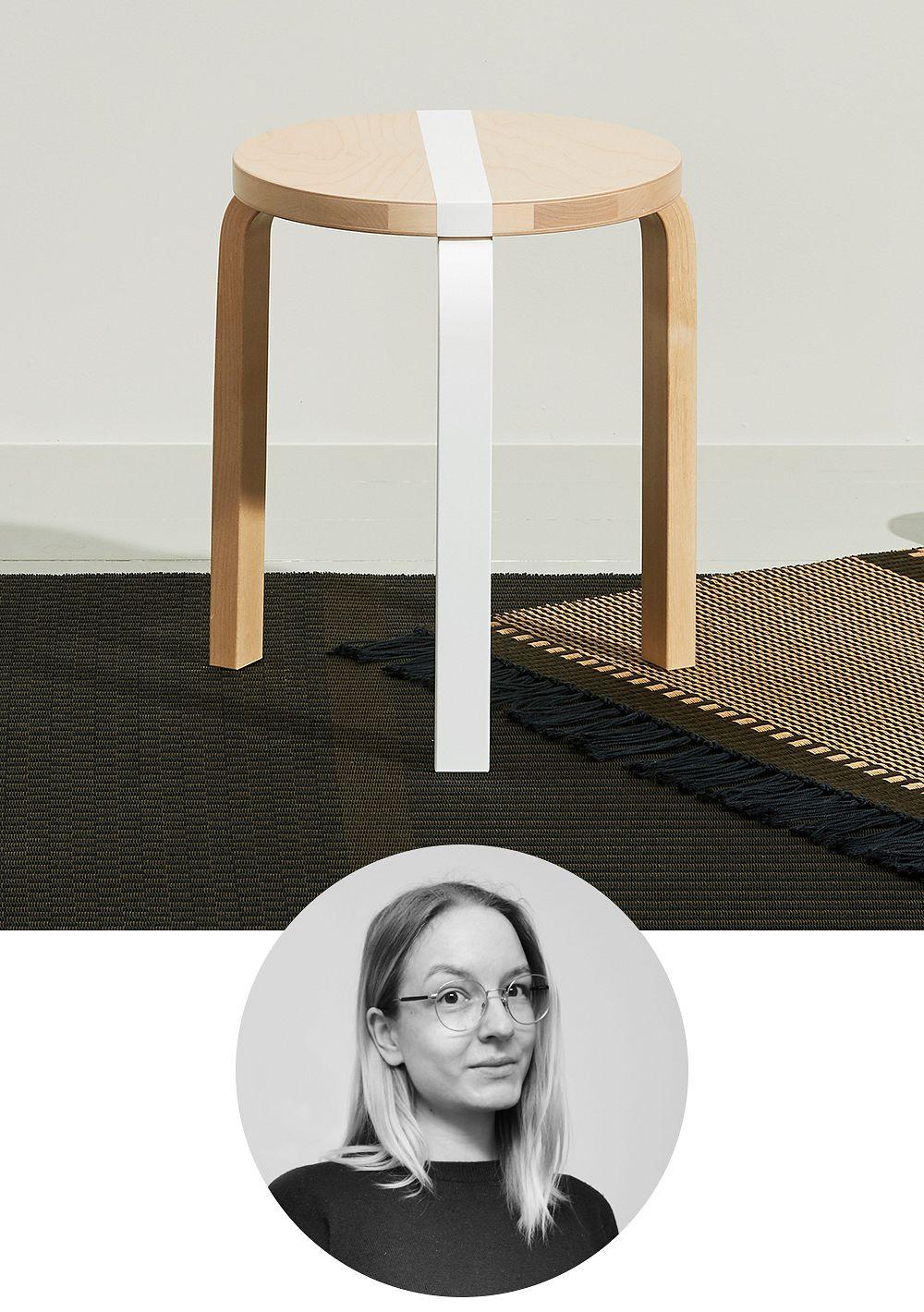 Artek Aalto stool 60 Publics, FDS 15 Years, birch - white