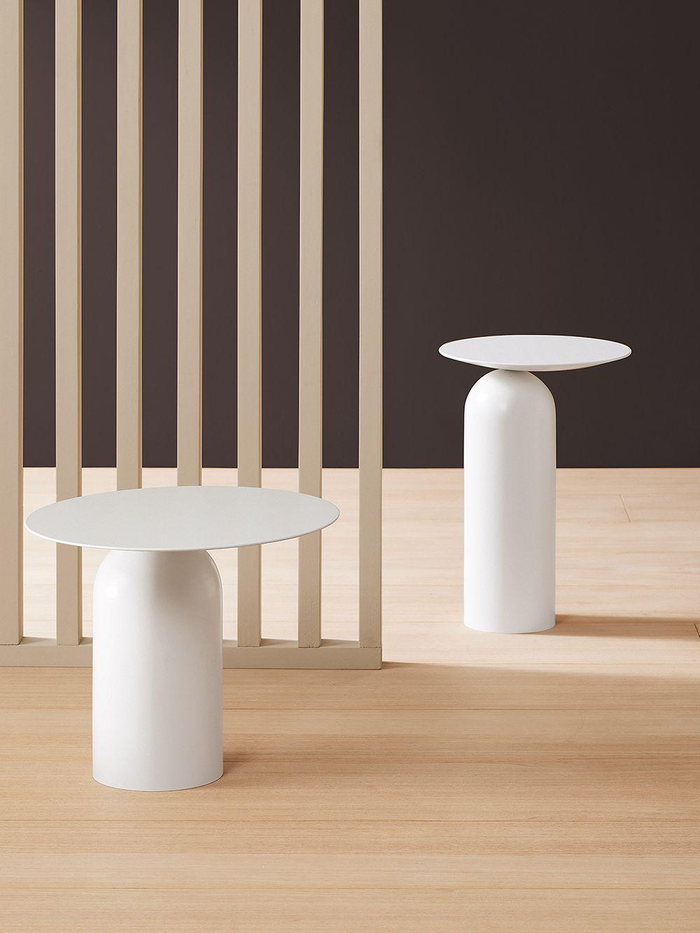 Basta Disco side tables in white