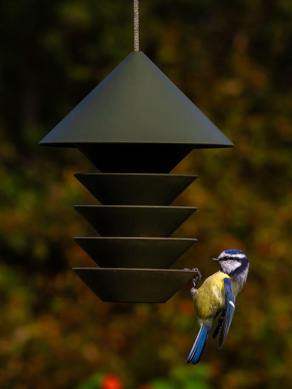Bird Silo bird feeder, green