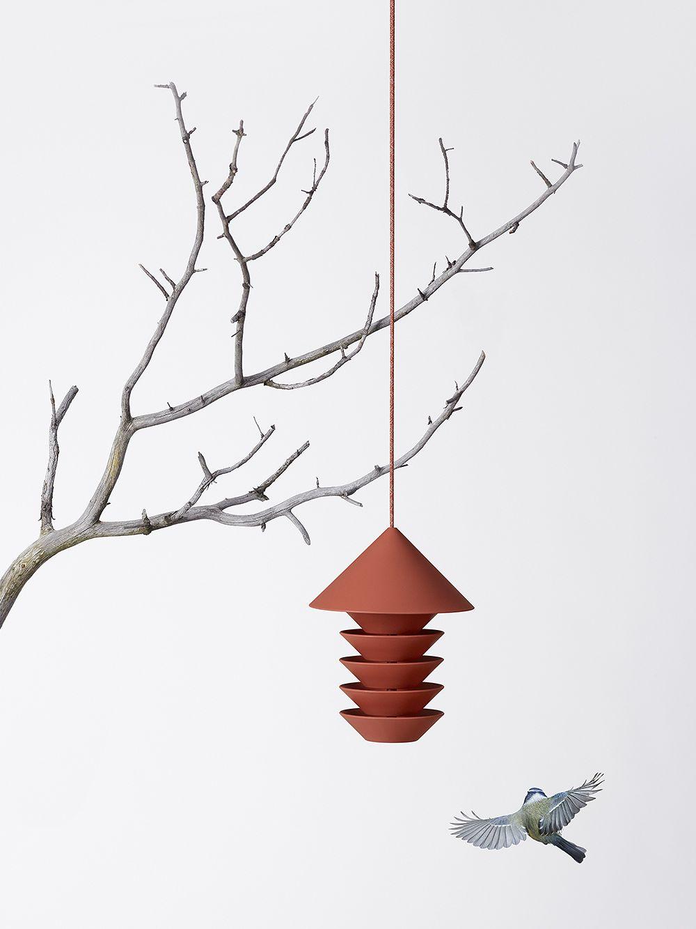 Bird Silo bird feeder, terracotta