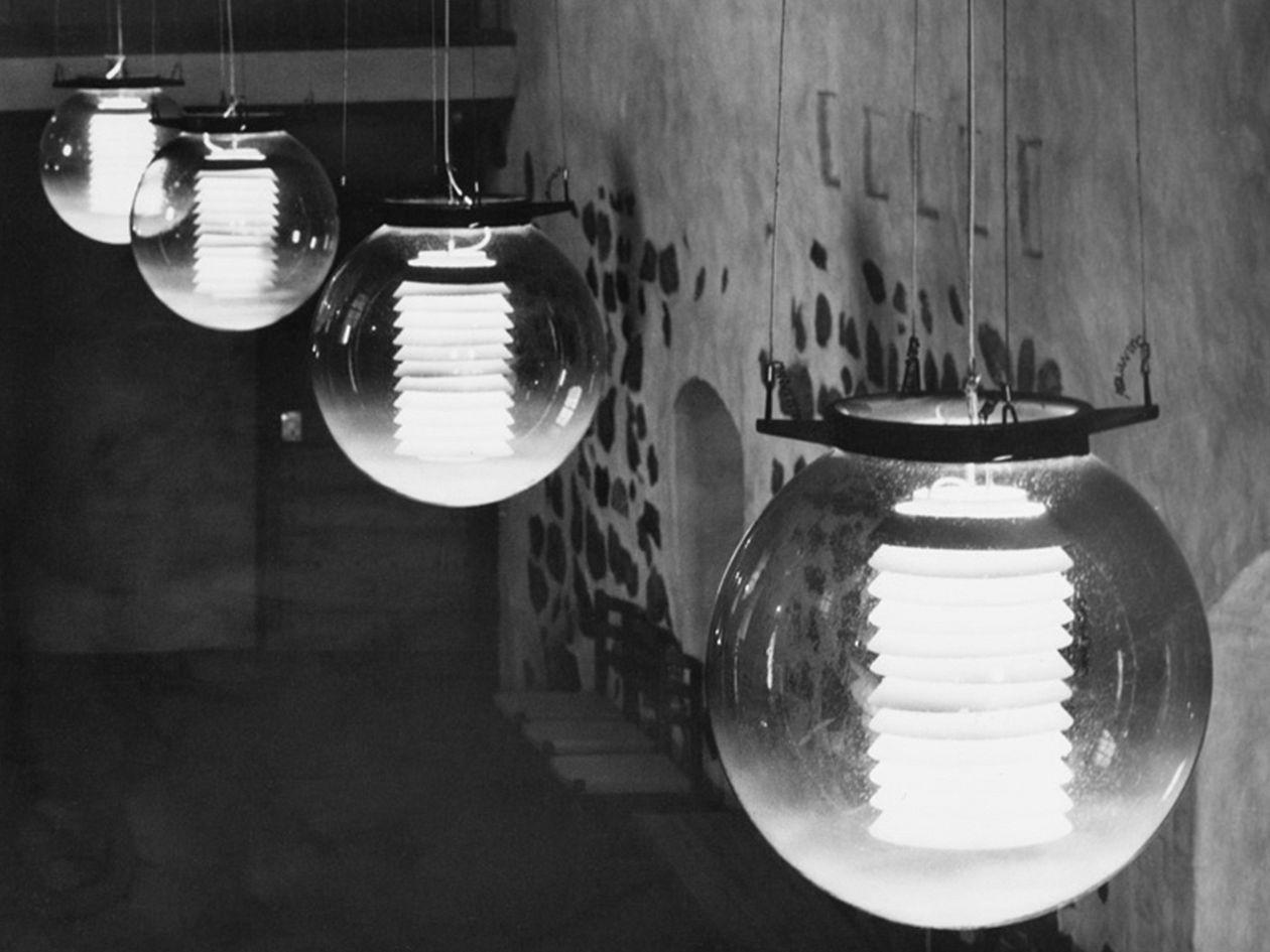 Pendant lights of the Turku Castle entrance hall