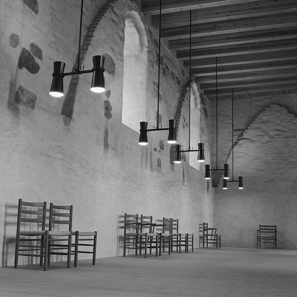Carin Bryggman's chairs and lamps in Turku Castle
