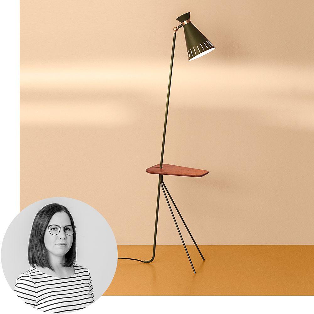Warm Nordic Cone floor lamp