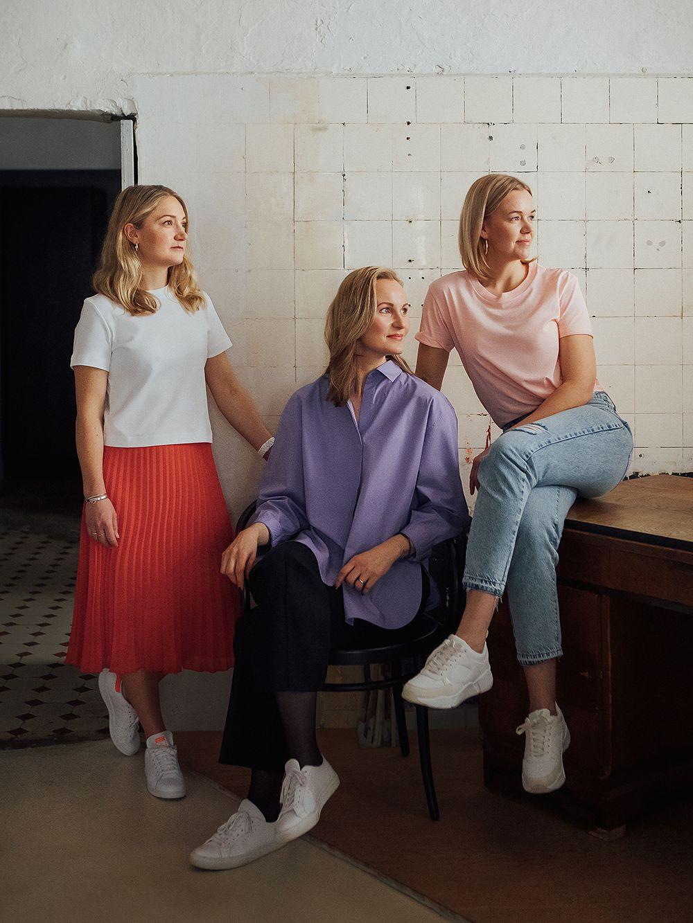 Laura Ratia, Tiina Hautala and Elisa Manninen