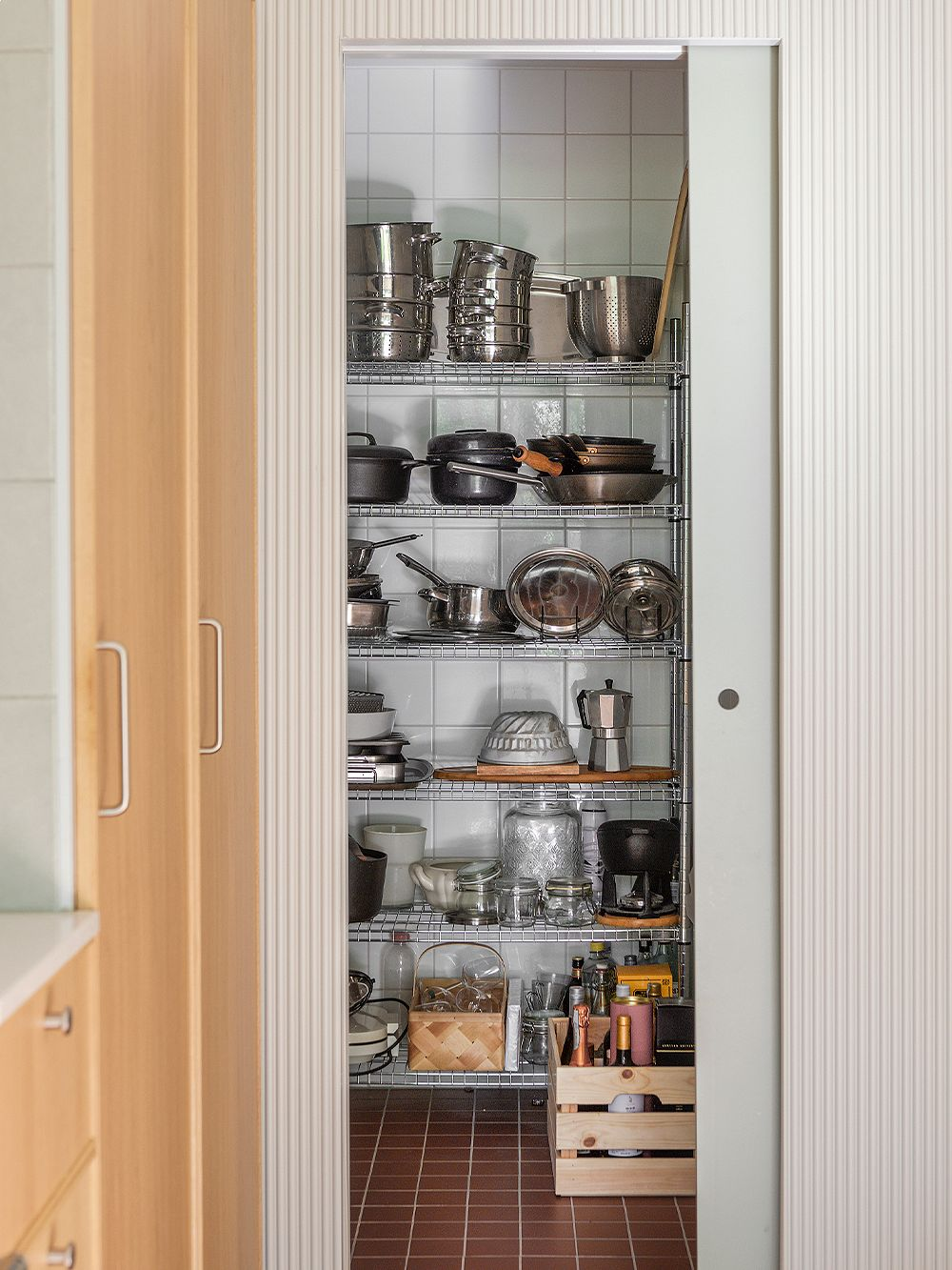 Kitchen storage   A family home in Oulu with a 15-year style guarantee
