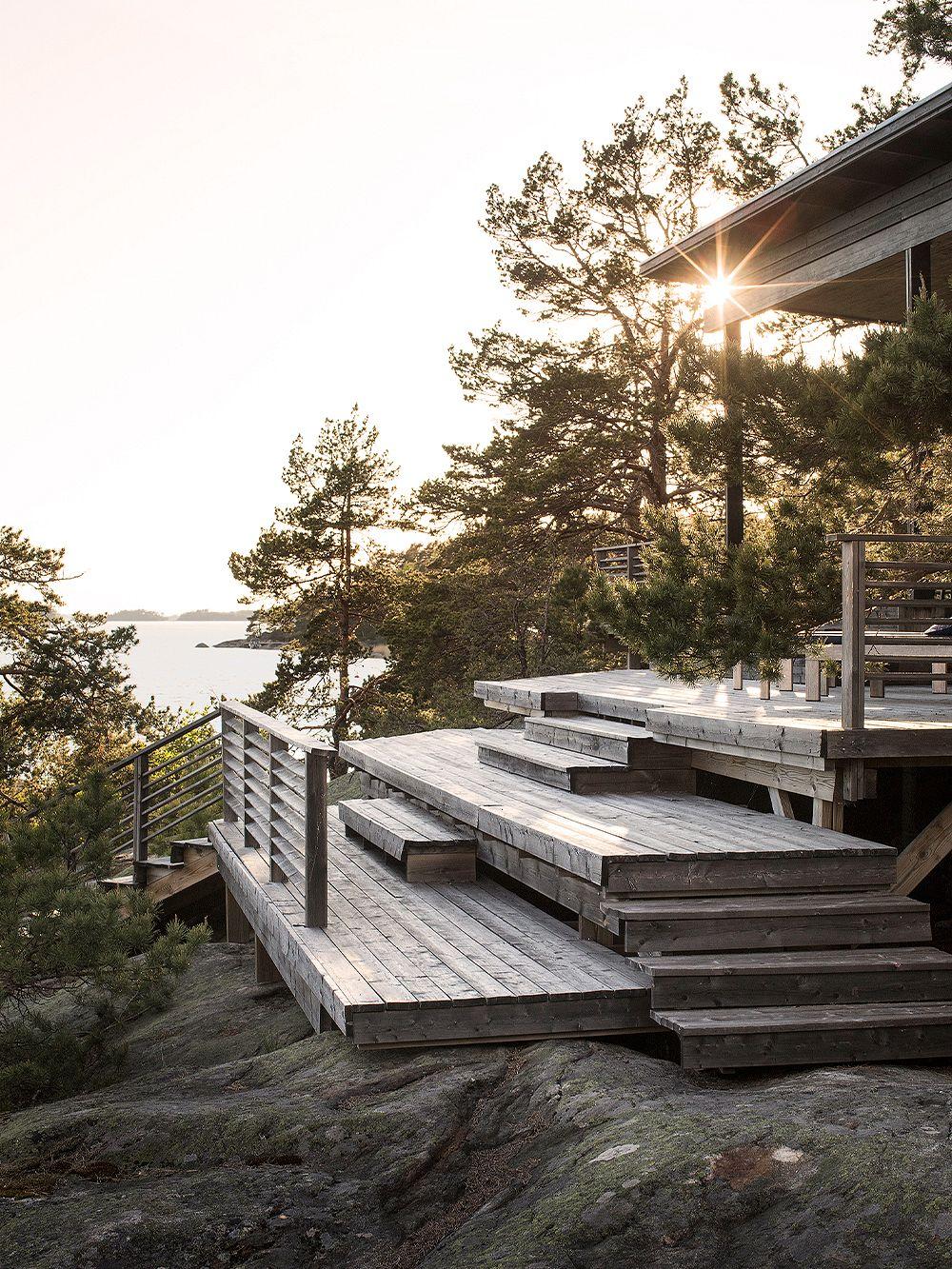 Grey terrace