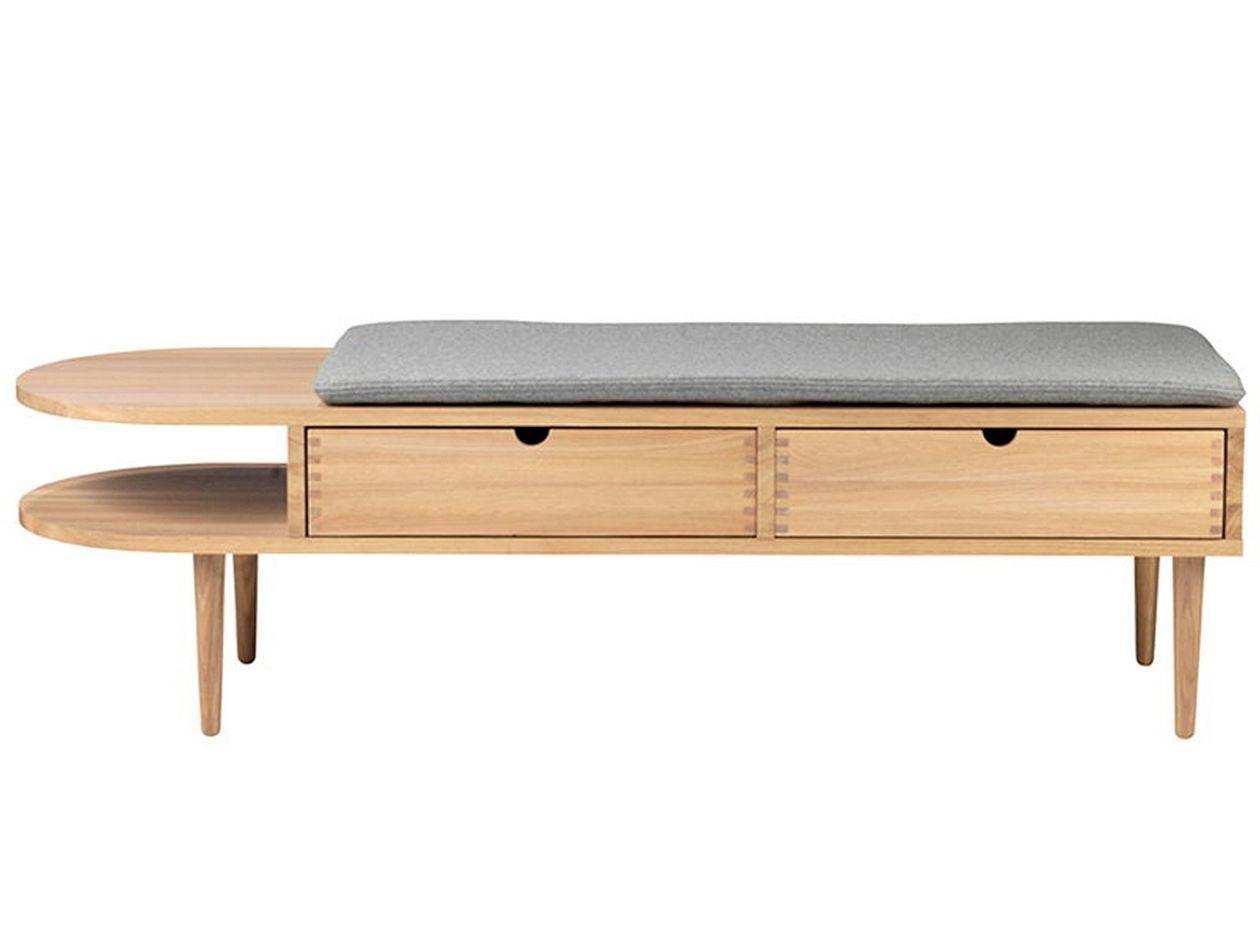 FDB Møbler: F24 Radius bench