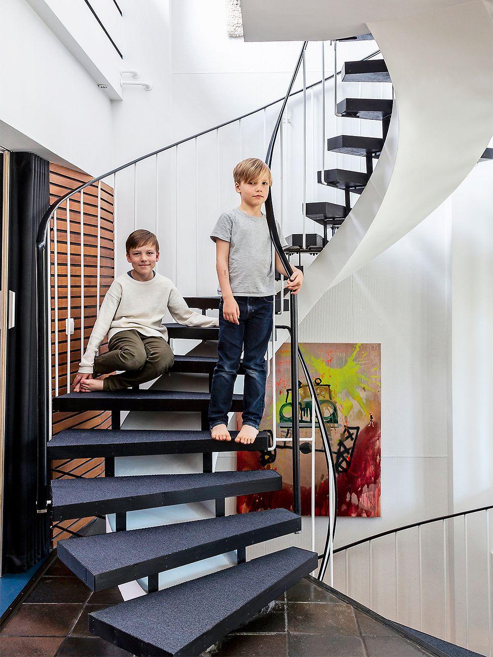 A spiral staircase 1960s