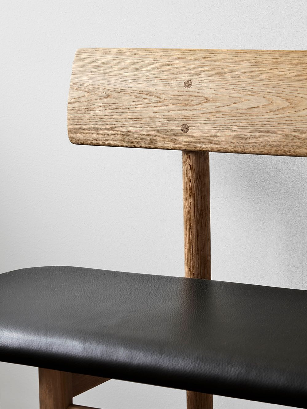 Fredericia Mogensen 3171 bench, black leather