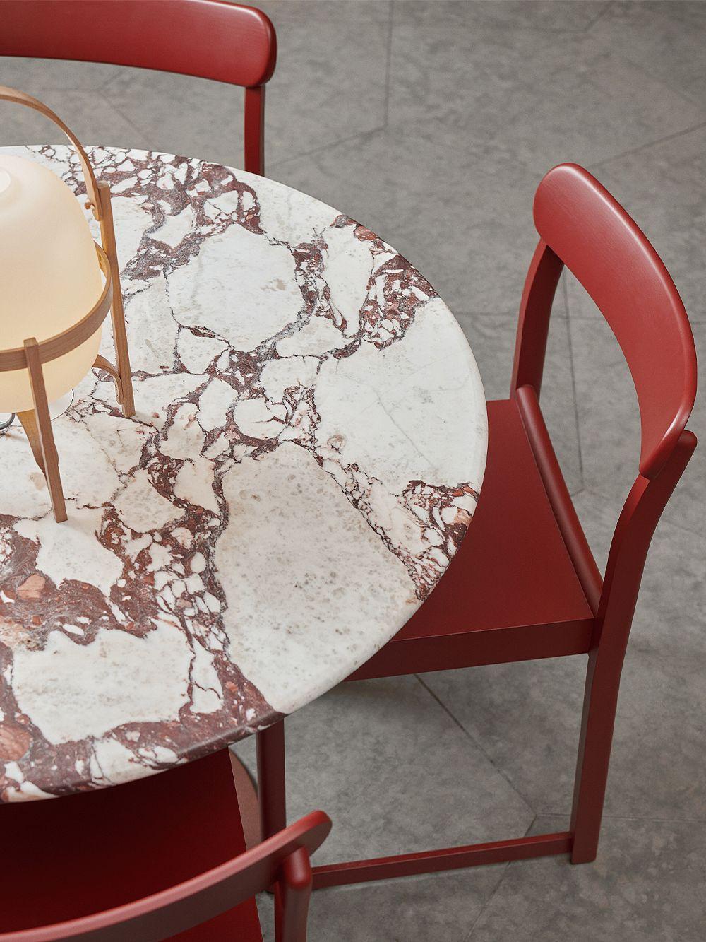 Artek Atelier chair, dark red