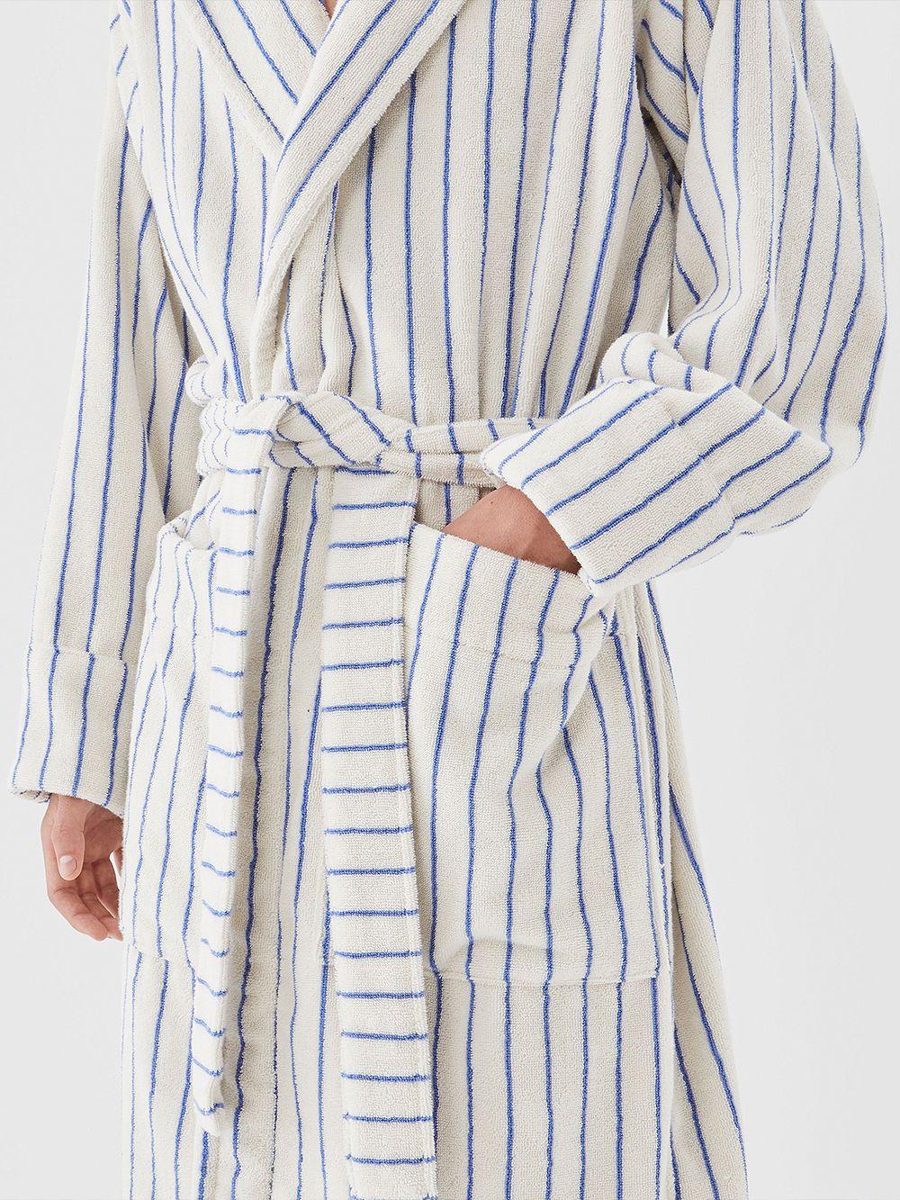 Tekla Hooded bathrobe, coastal blue
