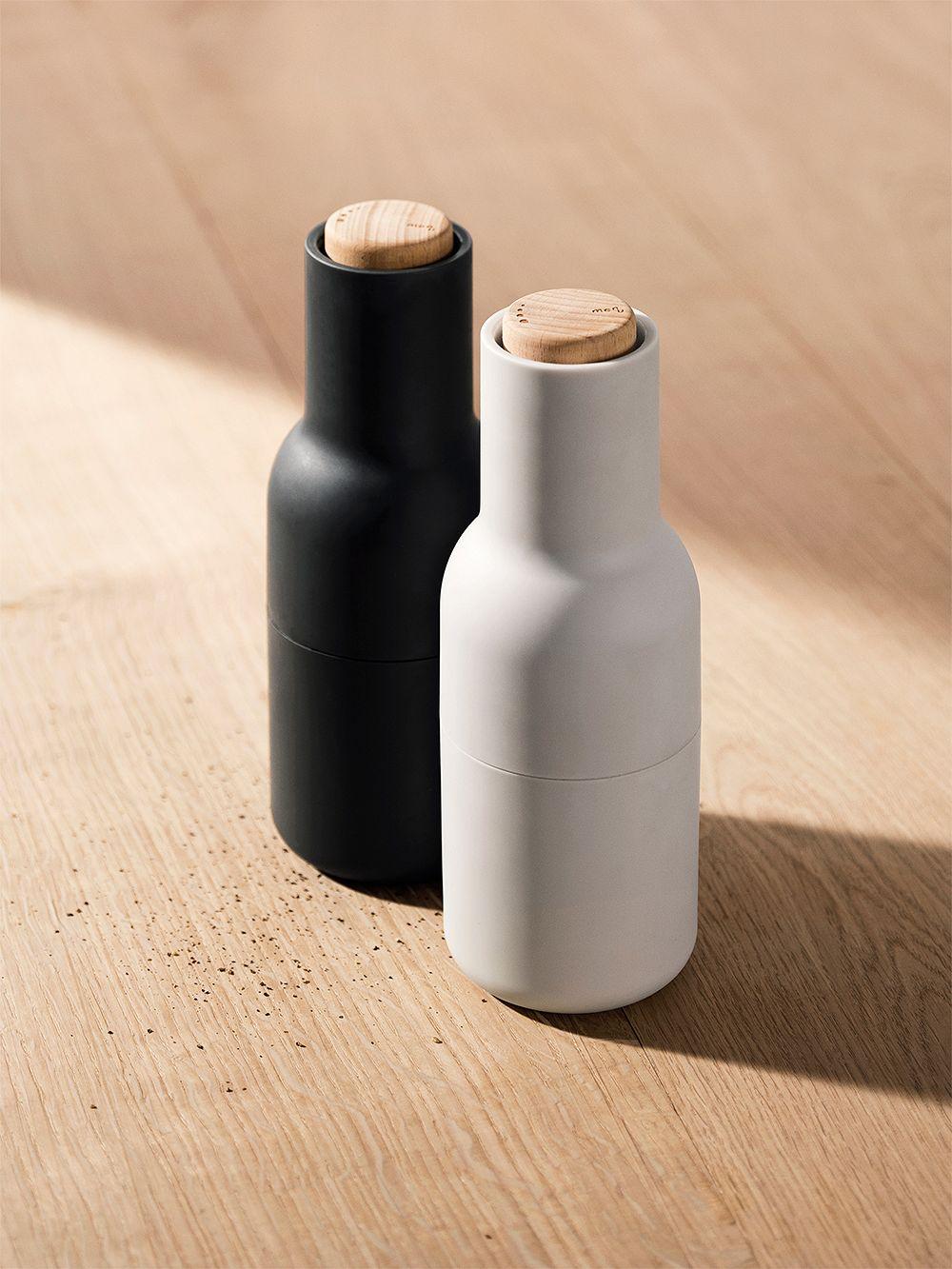 Menu Bottle Grinder 2 pcs, ash - carbon - beech