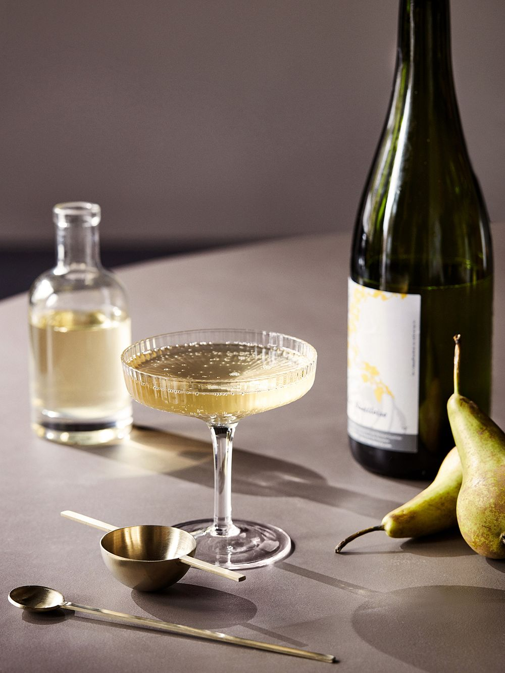 Ferm Living Ripple champagne saucer, 2 pcs, clear