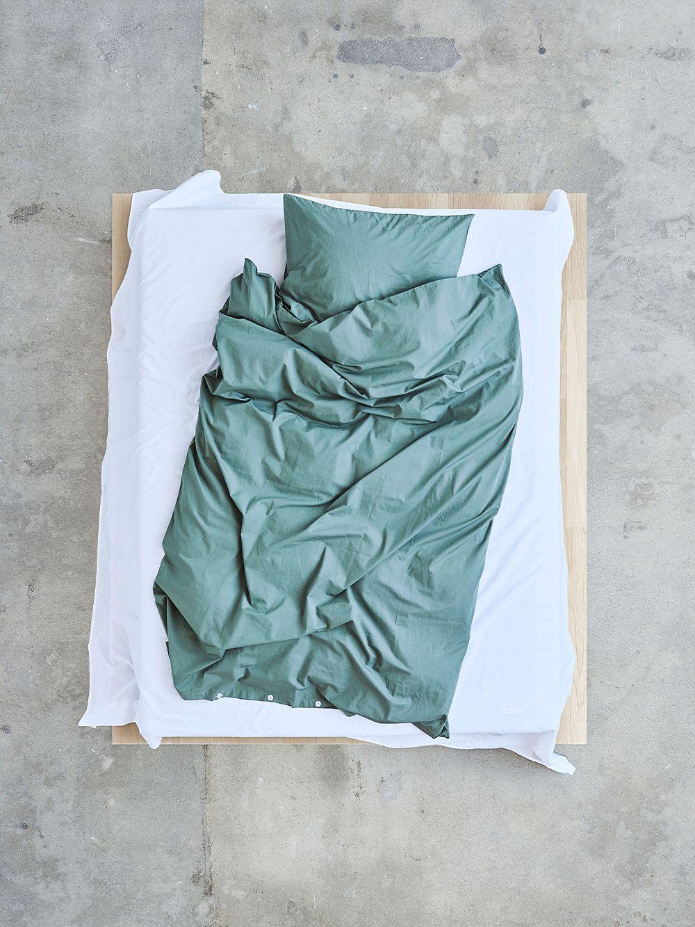 Tekla Single duvet cover, olive green