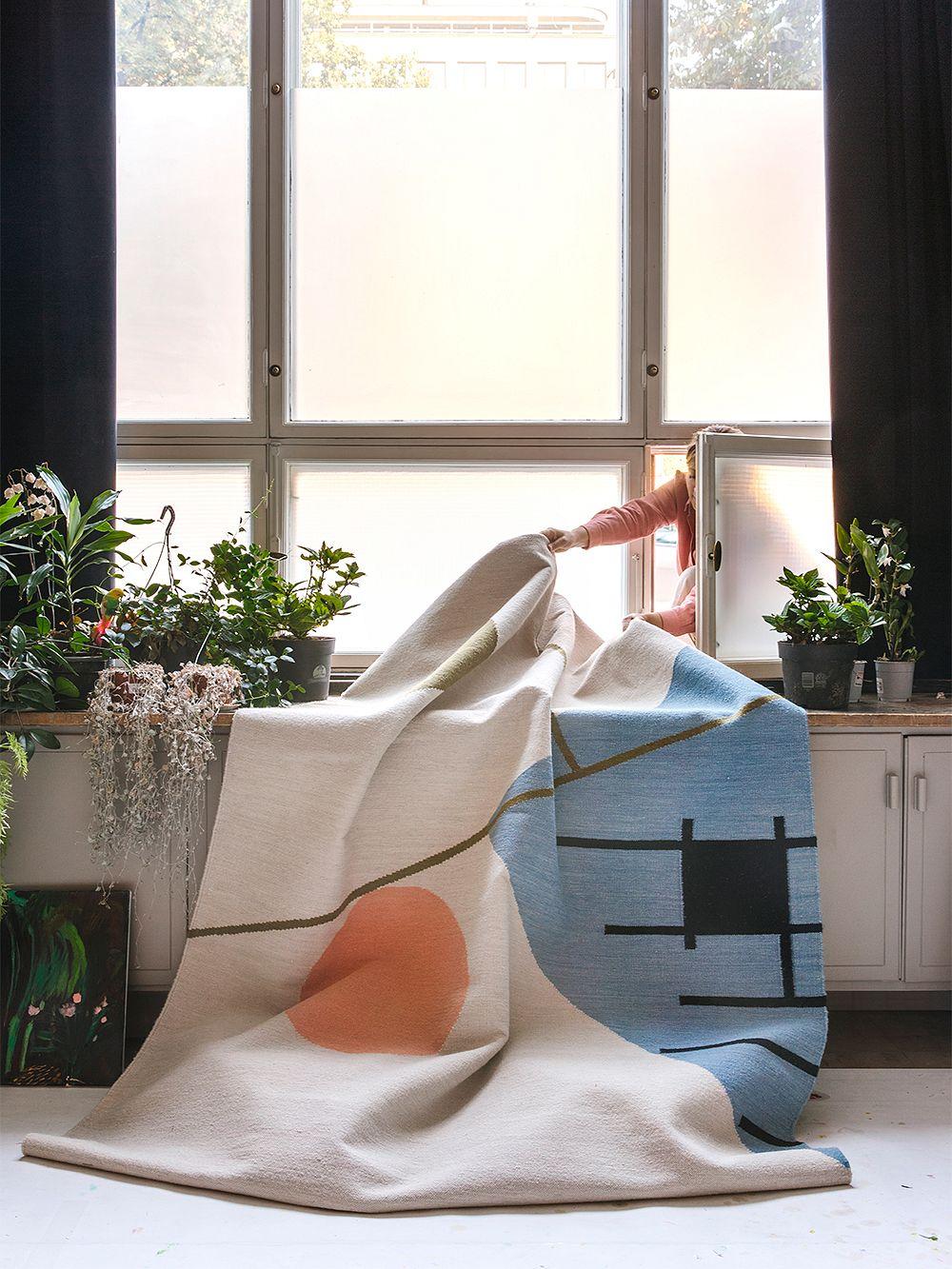 Finarte Zeniitti rug, grey - blue
