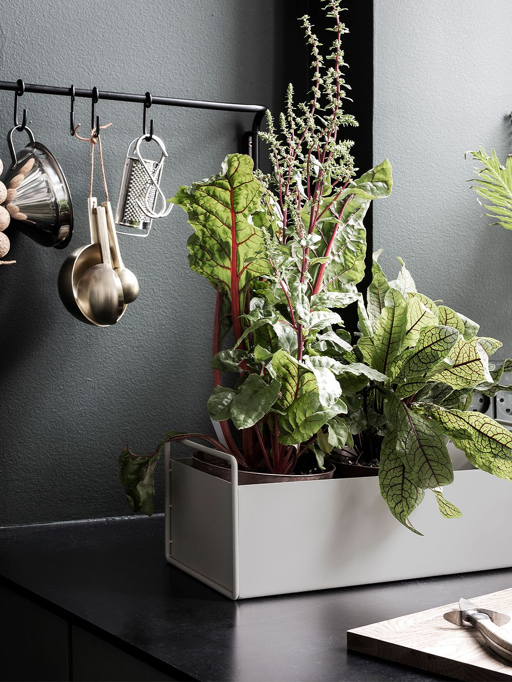 Ferm Living Plant Box, light grey