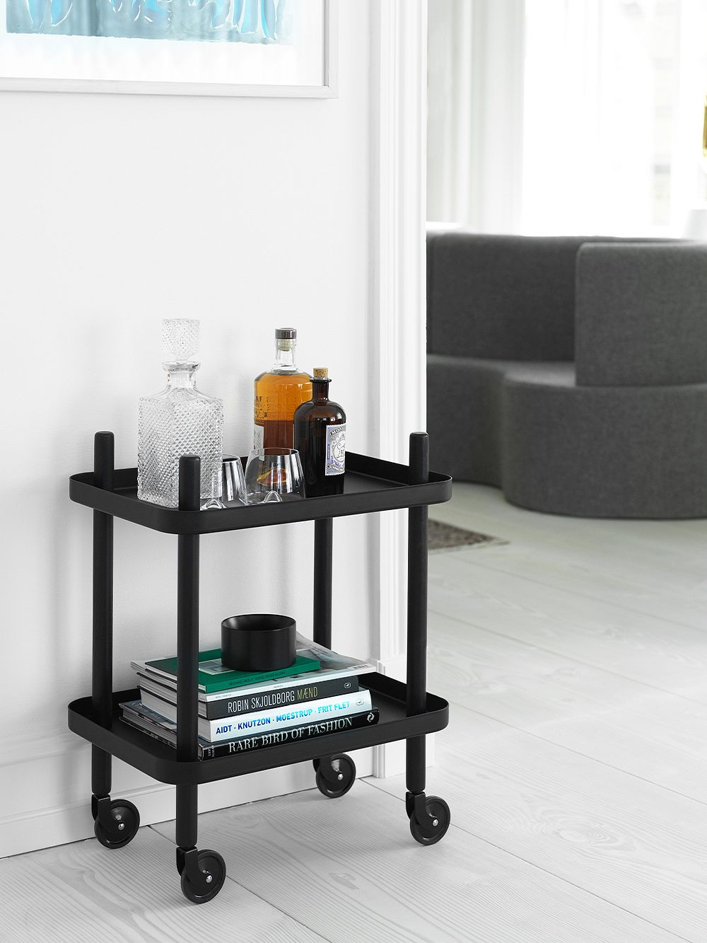 Normann Copenhagen Block table trolley, black