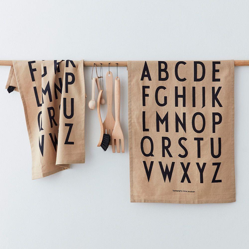 Design Letters Classic tea towels, beige
