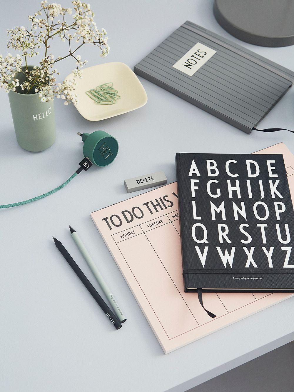 Design Letters ABC notebook, black
