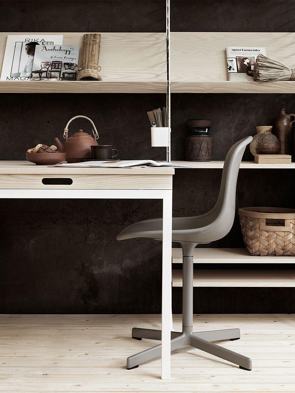 String Furniture  String folding table, ash - white