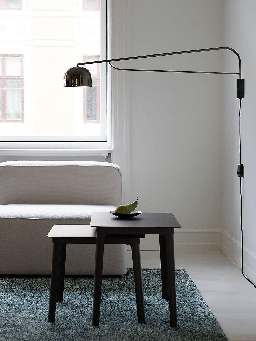 Normann Copenhagen  Grant wall lamp 111 cm, black