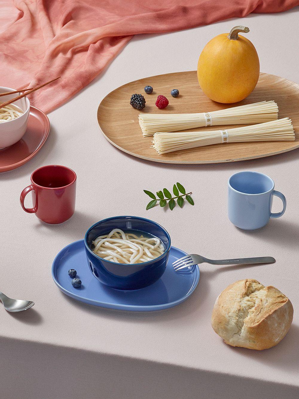 Nuppu Junior tableware set, blueberry