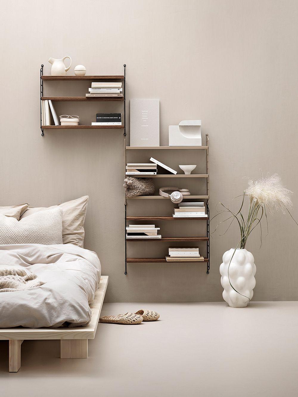 String Furniture String Pocket shelf, walnut-black