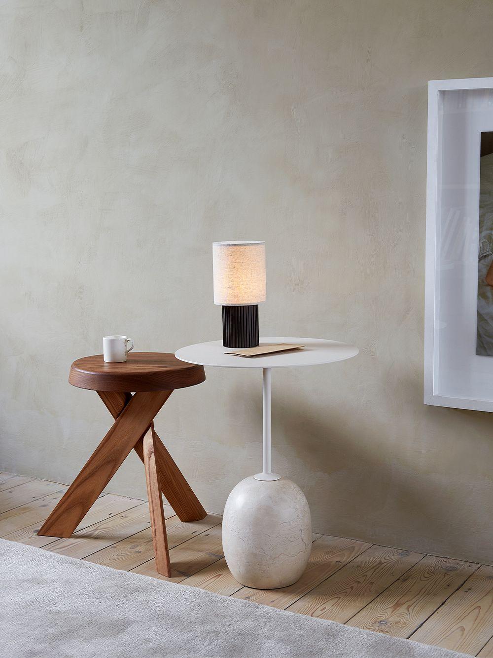 &Tradition Lato LN8 coffee table, white - Cream Diva marble