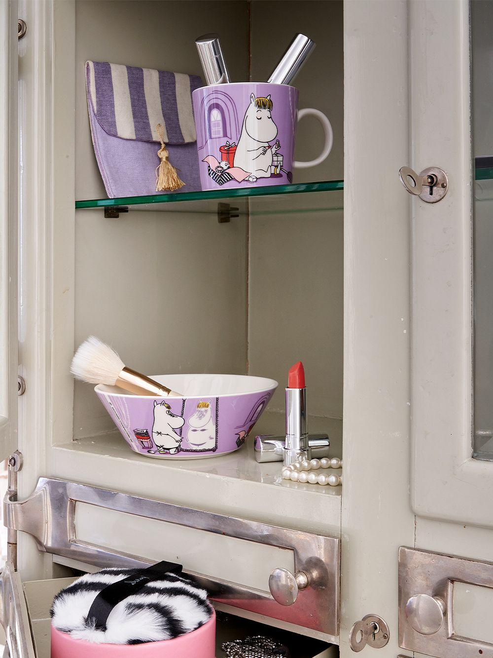 Arabia Moomin mug, Snorkmaiden, lilac