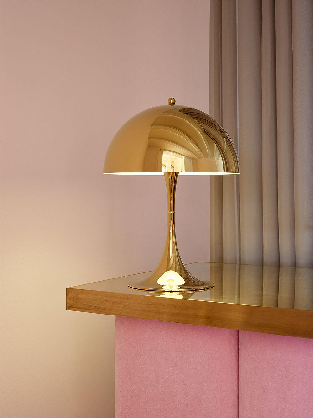 Louis Poulsen Panthella 320 table lamp, brass