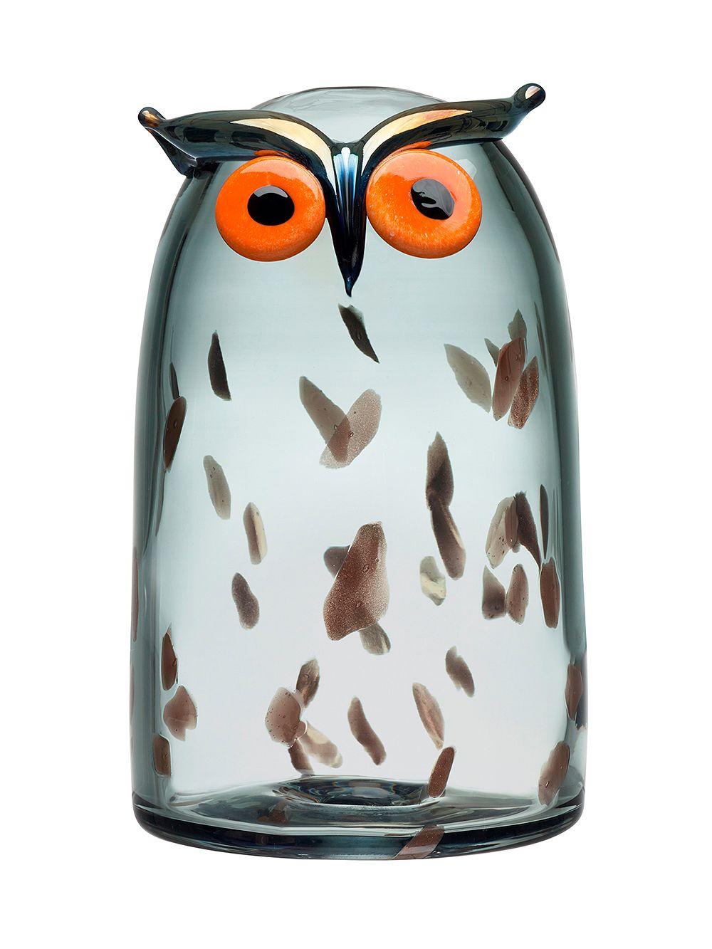 Iittala's Birds by Toikka Long-eared Owl glass bird