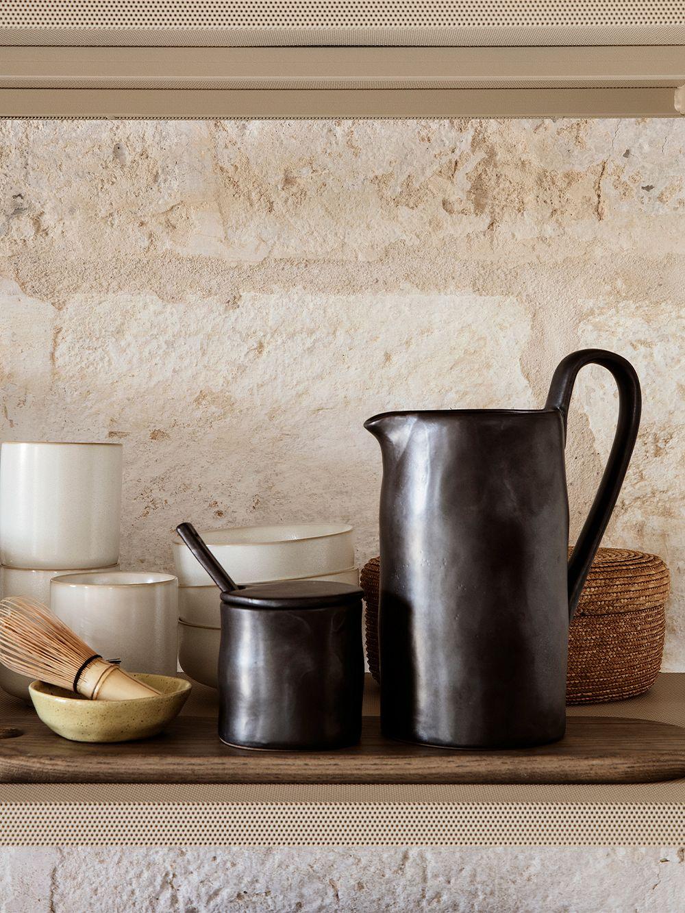 Ferm Living Flow jug, black