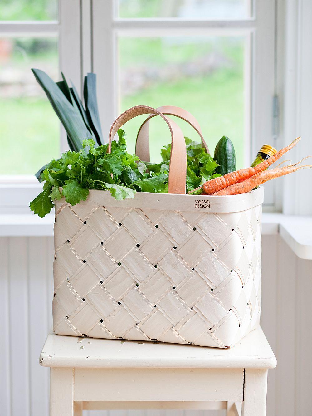 Verso Design Lastu shopping basket