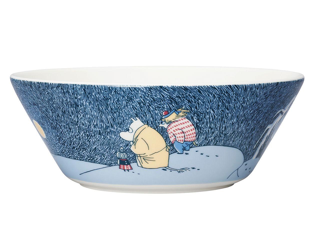 Arabia Moomin bowl Snow Moonlight