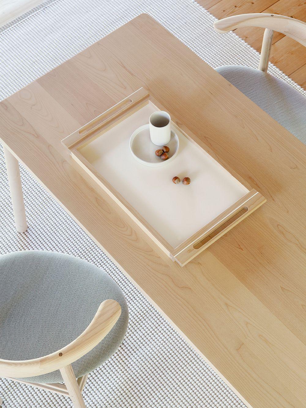 Nikari Alvar tray, birch-white laminate