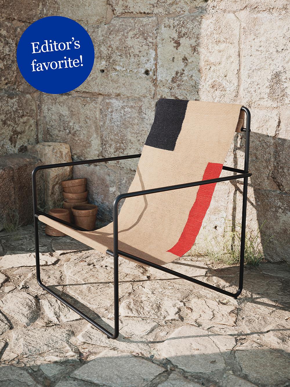 Ferm Living Desert lounge chair, black - block