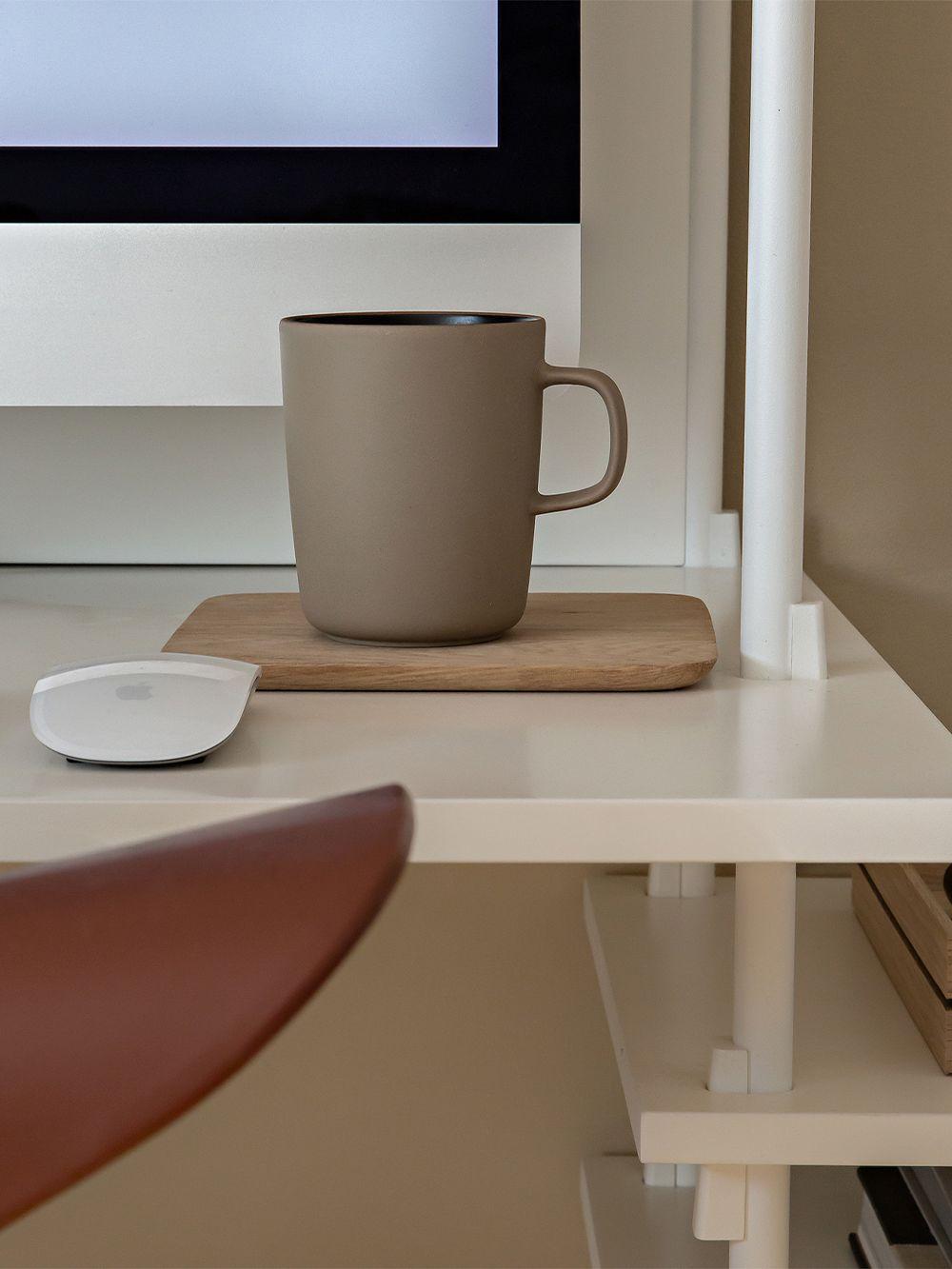 Marimekko Oiva mug 2,5 dl, terra-black
