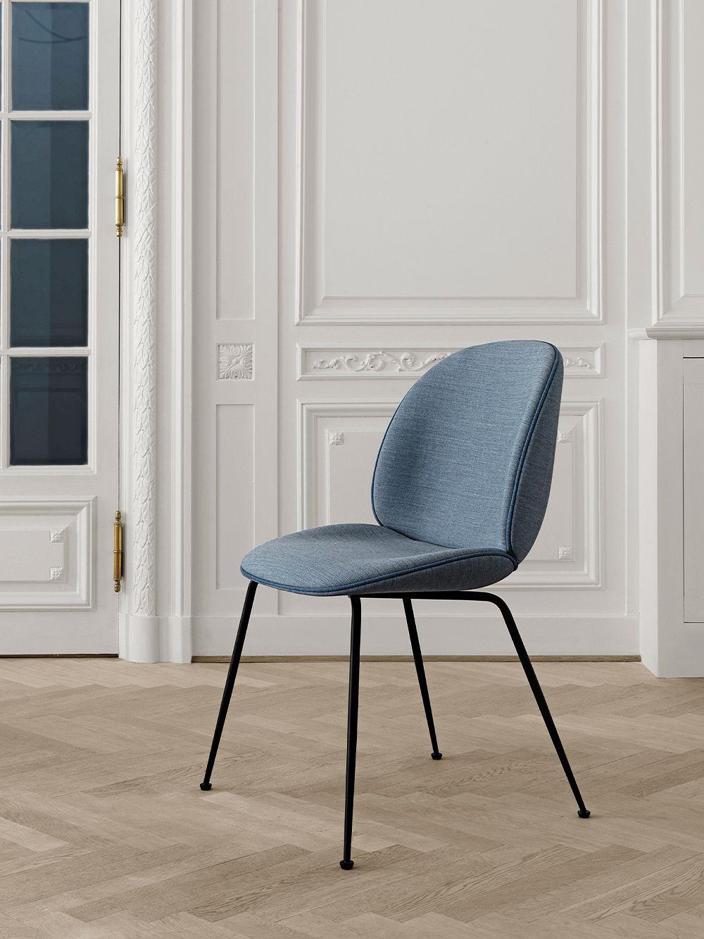 Gubi Beetle chair, black steel - Remix 733