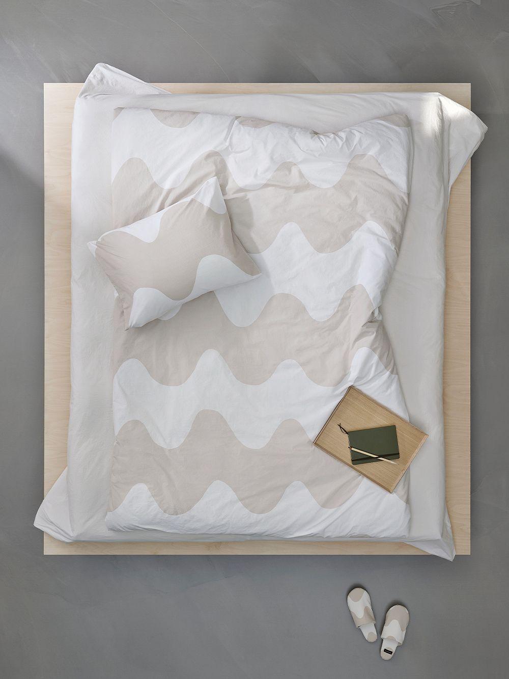 Marimekko Lokki double duvet cover in beige