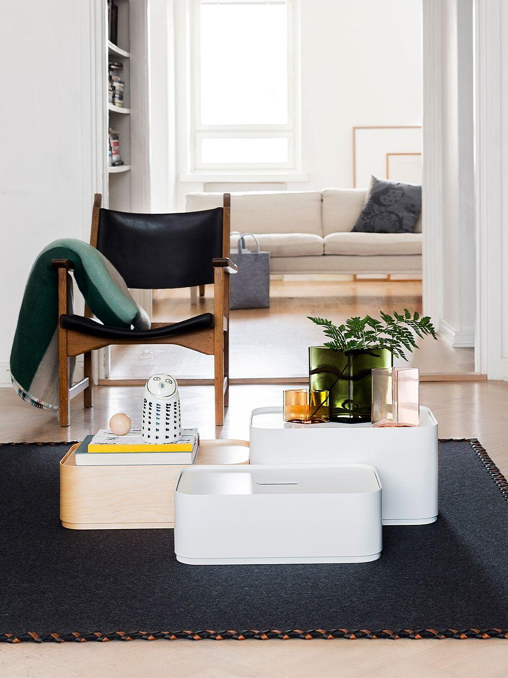Iittalan Vakka box large, white