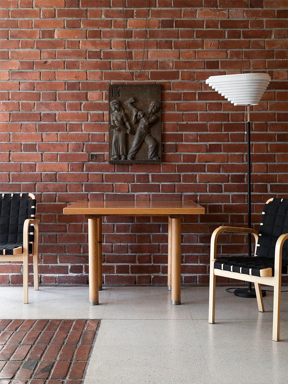 Artek Aalto floor lamp A805, polished brass
