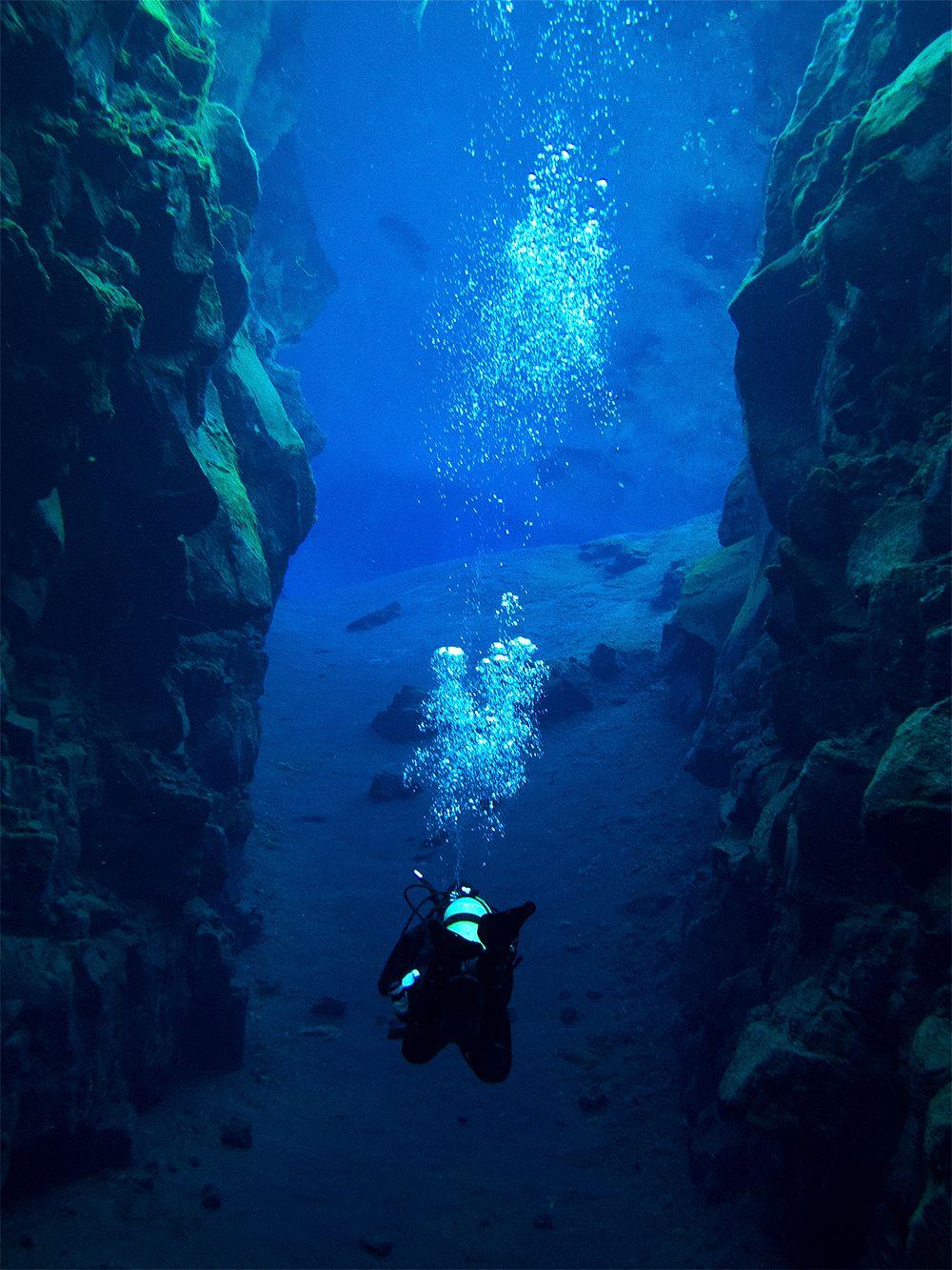 Silfra fissure, Iceland