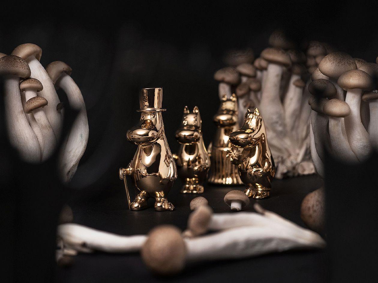 Moomin x Skultuna gilded figurines