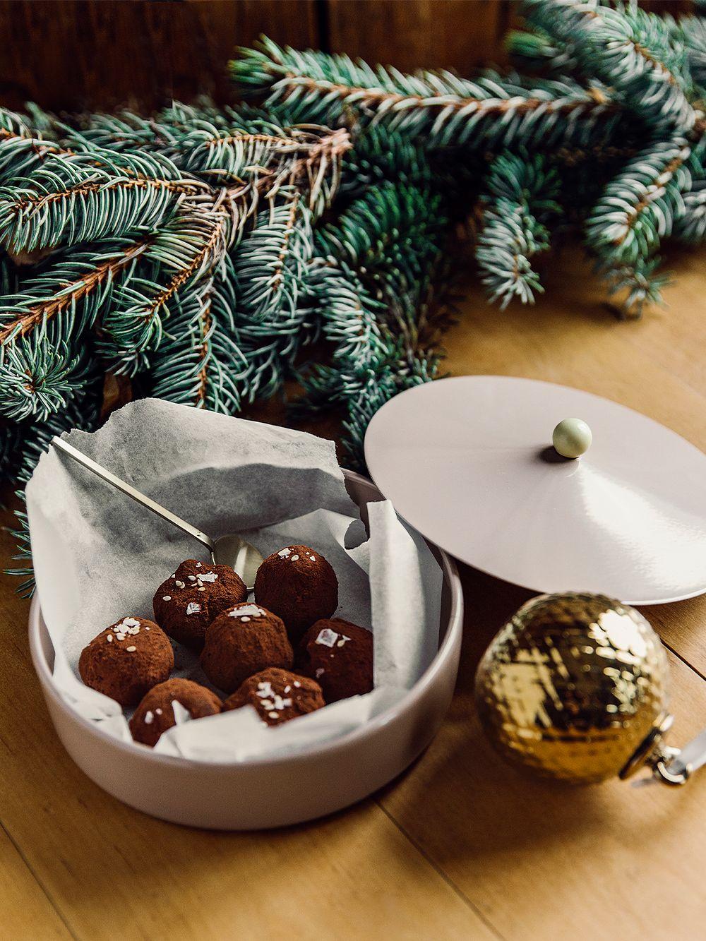 Sesame truffles in Tivoli's Marquee box