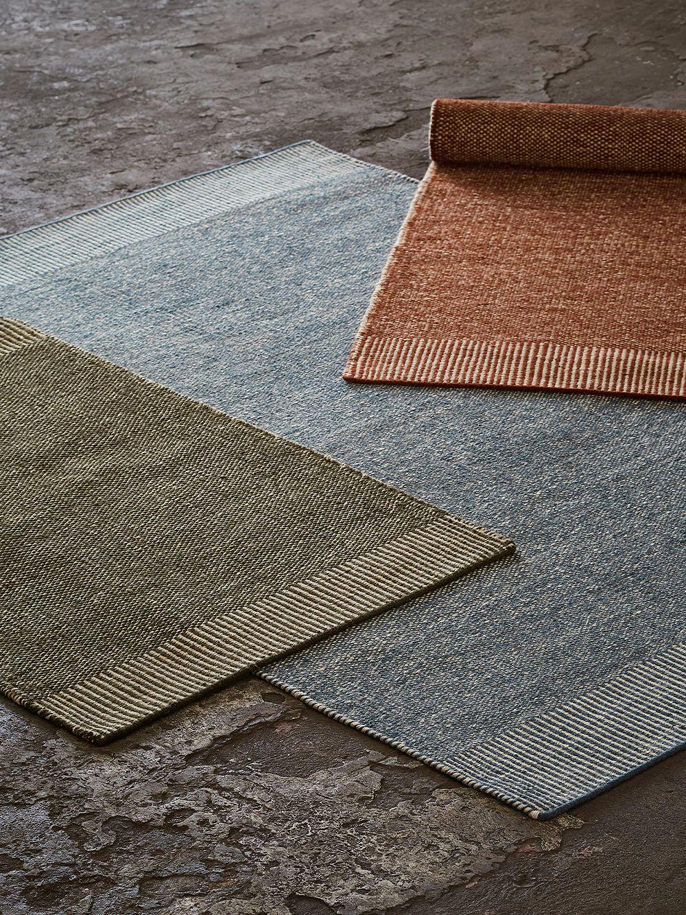 Woud Rombo rug, 90 x 140 cm, grey