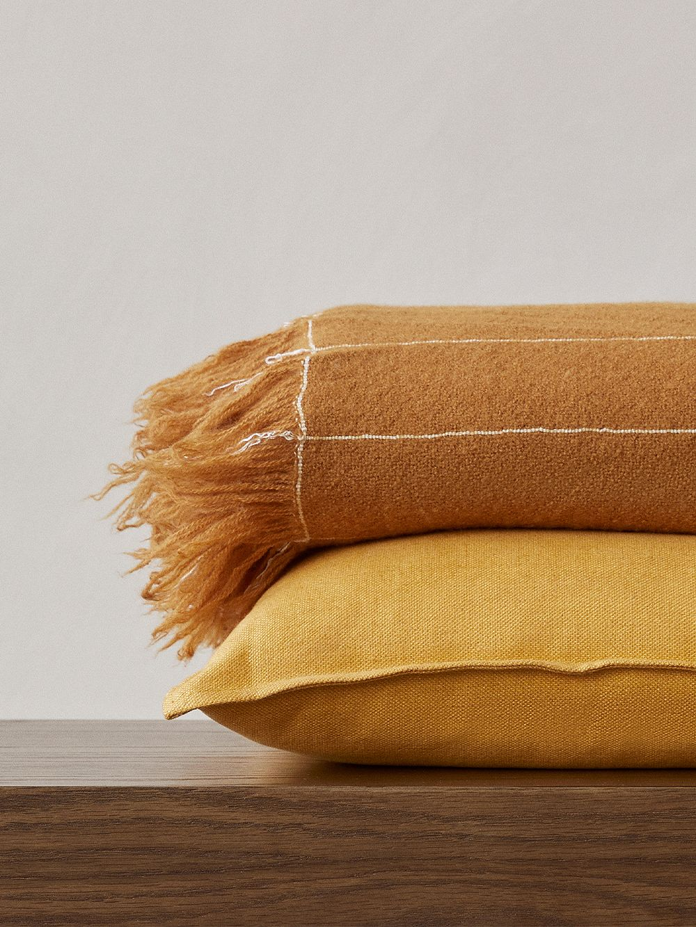 Menu Mimoides pillow, 40 x 40 cm, ochre